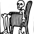 The armchair skeleton image is in the public domain according to publicdomainpictures.net.