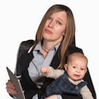 © Creatista | Dreamstime.com - Exhausted Working Mother With Baby Royalty Free