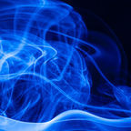 Kaipop | Dreamstime.com - movement-blue-smoke-black-background