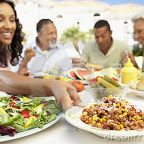 Royalty Free Stock Photography: Family Eating An Al Fresco Meal dreamstime.com