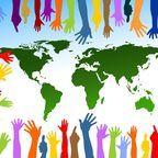 "Free illustration: ""Community, friends, globe."" Pixabay, CCO Public Domain"