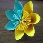 Origami flower in two colors