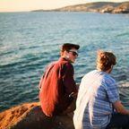 """Man Sitting Beside the Seashore""/Pexels/CC0"