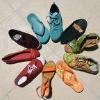 Rainbow shoes, Pixabay, chezbeate, CC0, Public Domain