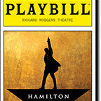 Playbill from Hamilton the Musical