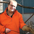 Image: David Grazian w/ a baby owl at the zoo
