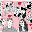 Illustration: Iconic moments in romance films