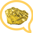 Image: Gold nugget inside speech balloon