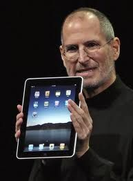 Steve Jobs presents the iPad