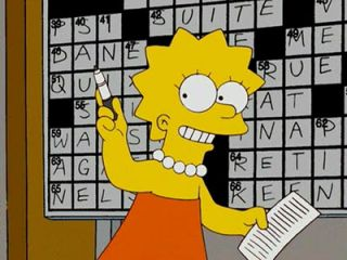 Lisa Simpson Gifted Child Crosswords