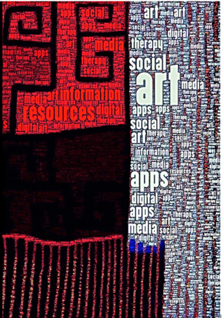 "© 2017 Cathy Malchiodi, PhD; ""Social Media Word Art,"" digital art created with Word Photo app."