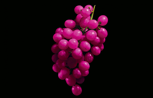 Magenta colored grapes