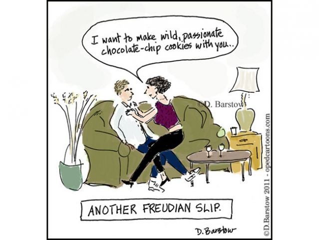 Freudian Slip Cartoons and Comics - funny pictures from CartoonStock
